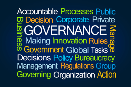 59486011 - governance word cloud on blue background